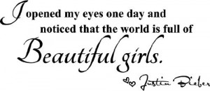 ... beautiful girls. cute music wall art wall sayings quotes by Epic