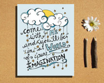 Instant Download World of Pure Imag ination Willy Wonka word art ...