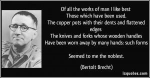 More Bertolt Brecht Quotes