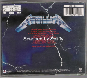 Metallica Ride The Lightning Picture