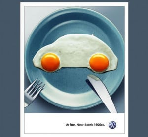 Publicité originale de la New Beetle