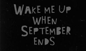 wake me up when september ends lyrics