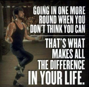 """Training Motivation: """"Going in one more round when you don't think ..."""