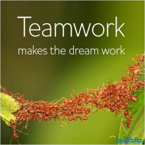 Teamwork Makes The Dream Work Color Picture - Teamwork Quotes