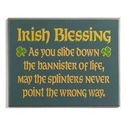 Funny Irish Blessing Plaque - Photo