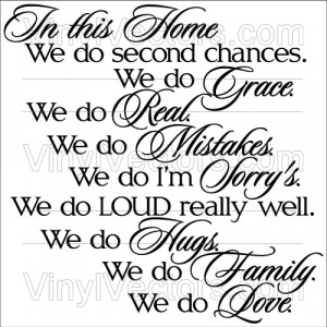 In this home we do… – Vinyl Quote Vector