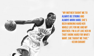 Kevin Durant credits his mother for teaching him to