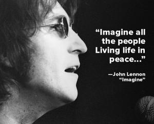 imagine all the people living life in peace john lennon imagine