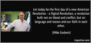 day of a new American Revolution - a Digital Revolution, a revolution ...