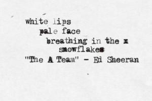 Ed Sheeran lyrics quotes