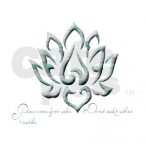 Buddha Lotus Flower Peace quote Can Insulator on