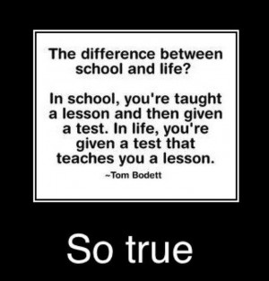 Quotes | ... between school and real life , school life funny quotes ...