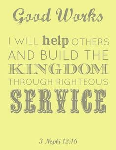 free # lds young women good works printable # yw more young women good ...