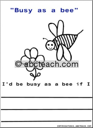 Color and Write: Sayings - Busy as a Bee - preview 1