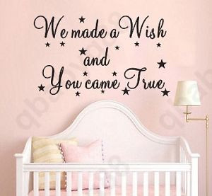 ... wish-Wall-Quotes-decal-Removable-stickers-decor-Vinyl-art-kids-nursery