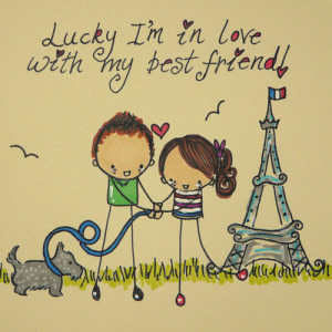 love with my best friend quotes