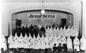 Ku Klux Klan Jesus Saves Church Meeting