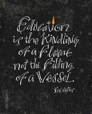 Socrates Quote - Digital Print Mini Poster