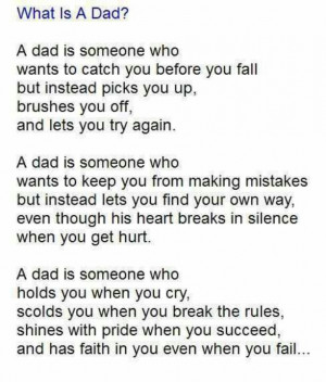 My father is the best man I know. Thank you for always being there ...