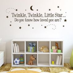 Twinkle Twinkle Little Star Vinyl Wall Decal - Boy Girl Baby Vinyl ...