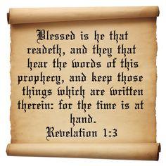 ... evelations | Revelation 1 Verse 3 | Inspirational Christian Quotes