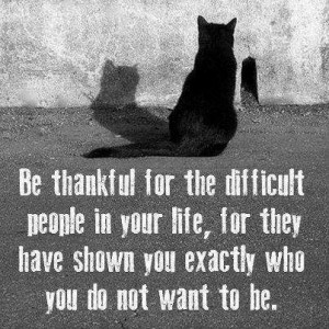 Be thankful for the difficult people in your life for they have shown ...