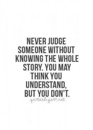 hate judgemental people!