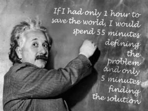 Problem solving ... - Quote by EinsteinQuote