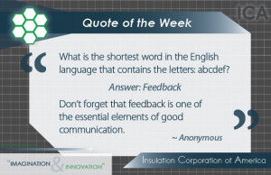 Quote of the Week ~ #Inspiration #Feedback #Communication