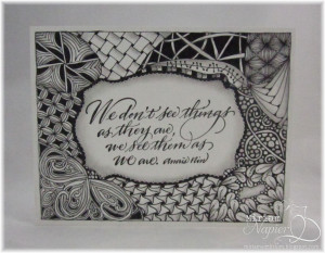 Zentangle Quote Card