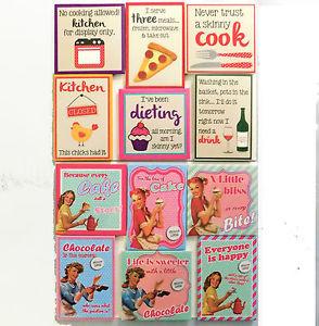 Retro-Novelty-Fridge-Magnets-Kitsch-1950s-Quotes-Funny-Vivid-Colour