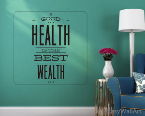 ... Decal, Health Vinyl Wall Art Quotes, Be Healthy Wall Decor for Dentist