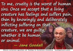 Go Back > Gallery For > Jane Goodall Quotes About Animals