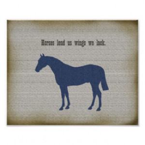 Horse Poster Equestrian Inspirational Quote Poster