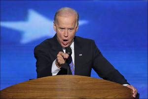 Vice President Joe Biden addresses the Democratic National Convention.
