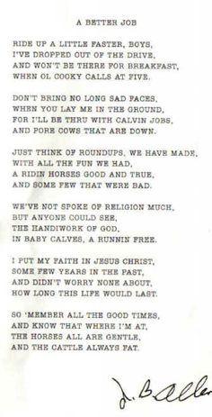 cowboy dad poem | In Memory Sunny Hancock Larry McWhorter Mason ...