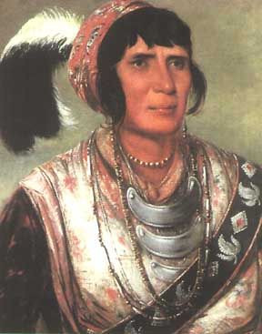 Seminole Chief Osceola, portrait painted by George Catlin while ...