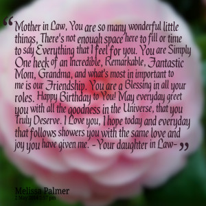 Quotes Picture: mother in law, you are so many wonderful little things ...