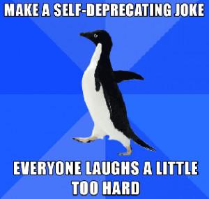 self-deprecating