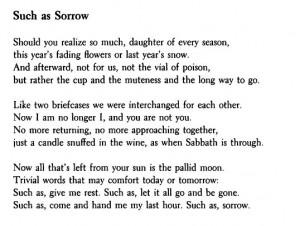 Such as Sorrow