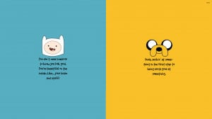 Adventure Time motivation wallpaper 3840x2160