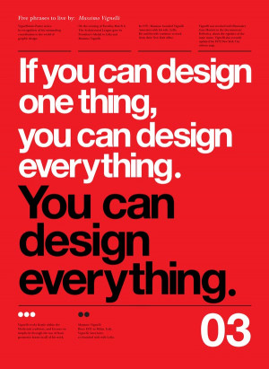 ... Posters by Anthony Neil Dart with quotes by by Massimo Vignelli