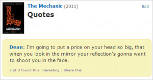 ... reminder that this quote from Jason Statham's The Mechanic exists