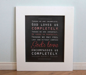 God's love free LDS quote printable artwork