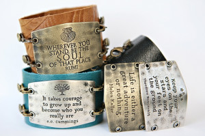 Beautiful leather cuffs and accessories with interchangeable ...