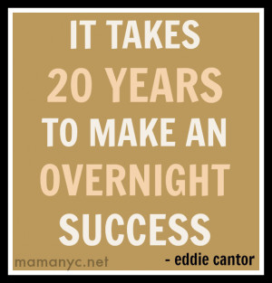 Success won't happen overnight (and you will need to invest a lot ...