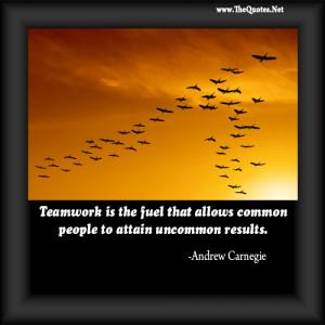Andrew Carnegie On Teamwork