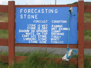 Weather Forecasting Stone Funny Quotes