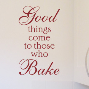 Bake Wall Art Quote Sticker - H610K