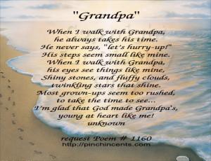 Happy Birthday Grandpa Poems Grandfather poem